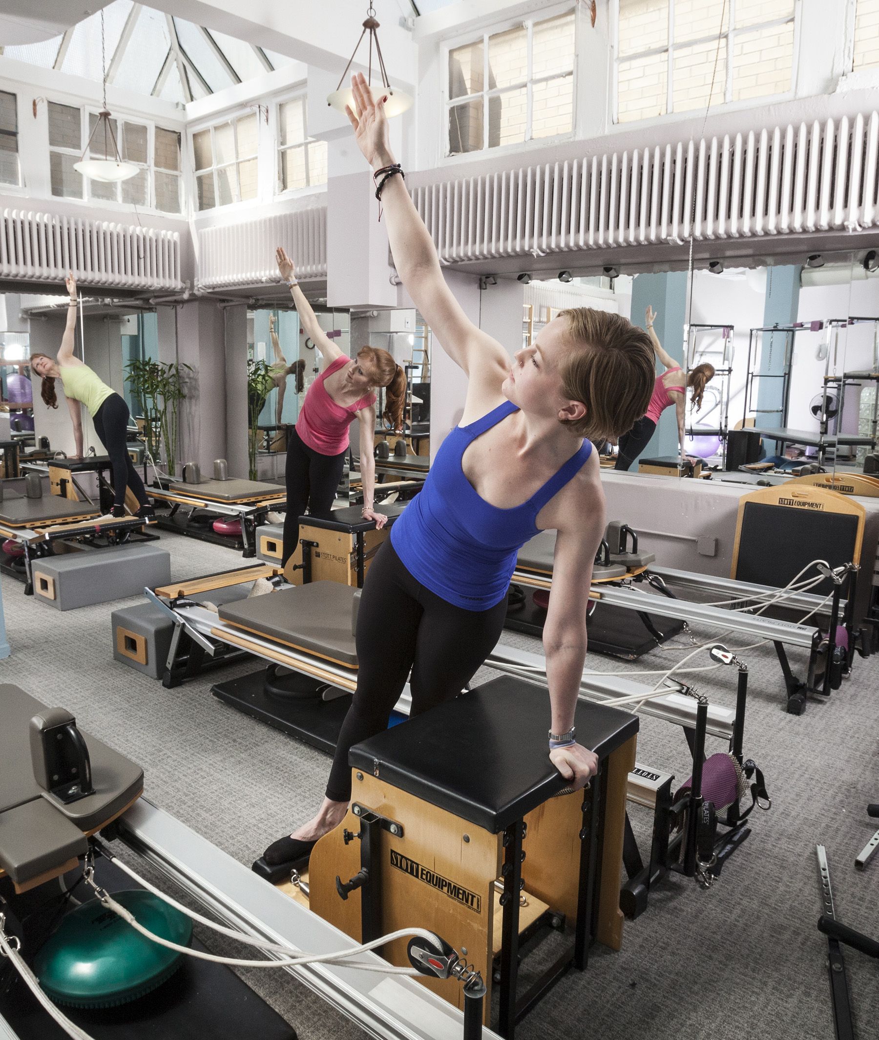 Split Pedal Stability Chair With Handles: Pilates Studio In Midtown New York City