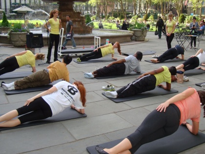 Pilates On Fifth Kicks Off Bryant Park Fit Club With A Free Pilates Class
